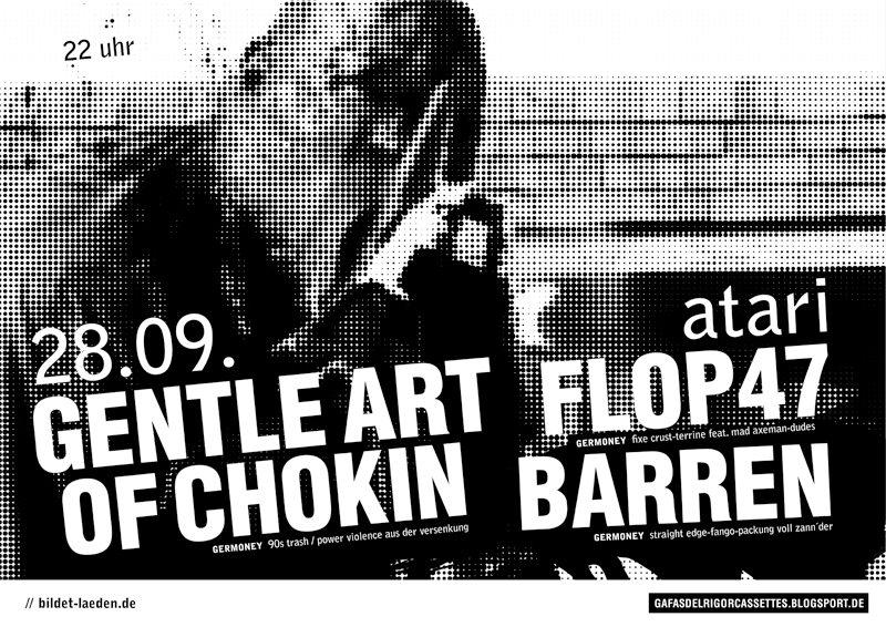 barren. gentle art of choking. flop 47.