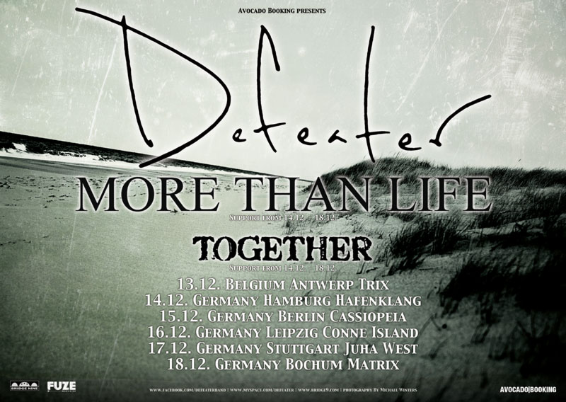 defeater. more than life. together.