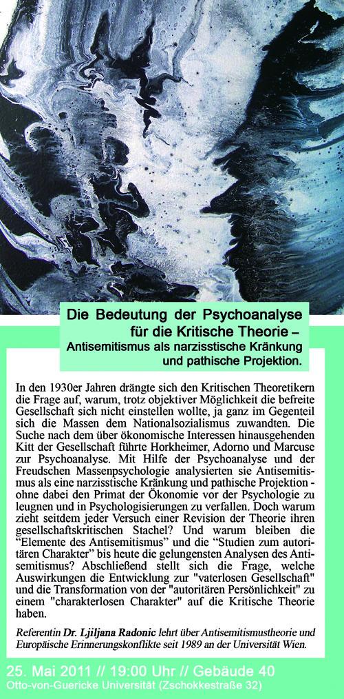 psychoanalyse kritische theorie