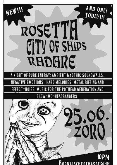 rosetta city of ships radare