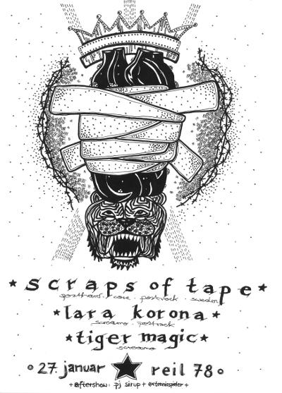 scraps of tape. lara korona. tiger magic.